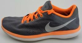 Nike Womens Gray Orange Flex 2016 Run 830369 003 Lace Up Running Shoes Size 8 - $46.74