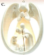 Ornament - Angel & Nativity - Illuminates - 33199