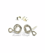 Sterling Silver Diamond Stud Earrings with Loop - $13.90+