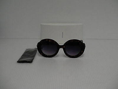 48d9749dc7beb 1. 1. Authentic PRADA sunglasses round tortoise black arm spr ...