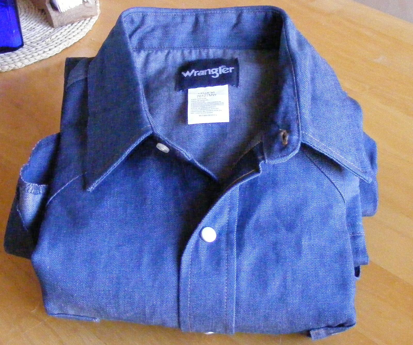 7ce6a05044 Dscf4342. Dscf4342. Previous. Wrangler Cowboy Cut rigid denim cotton work  shirt