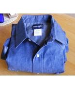 Wrangler Cowboy Cut rigid denim cotton work shirt, 70127MW 17 1/2x36 - $23.99