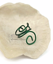 Dark Green Ear Cuff, Simple Cartilage No Piercing Earrings - $9.90+