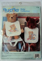 Bucilla Baby Collection 41195 Mr. Moon and Me Stamped Cross Stitch Bib Kit - $6.99