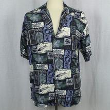 Hilo Hattie Camp Aloha Short Sleeve Shirt 100% Rayon Men Sz L EUC - $18.68