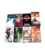 8 VHS Movies GHOST TRUMAN SHOW HOME ALONE INDIANA JONES TITANIC NAKED GU... - $22.99