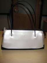 Beijo Classic Shoulder Bag Ivory/Black  - $20.00