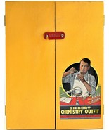 1936 Gilbert Chemistry Outfit Lab Science Set Yellow Wood Case M1708 Vin... - $98.99