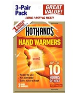 Hand Warmers Ready to Use 3 Pair Pack HotHands 10 Hours of Heat New - $6.99