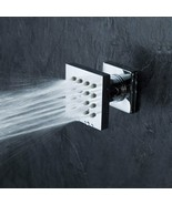 Modern Solid Brass 16-Nozzle Square Body Spray Jets Shower (Polished Chr... - $39.58