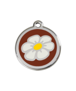 SMALL Brown Daisy Pet Tag Identification Dog Ca... - $14.49