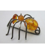 Amber Ant Friendly Bug Pin Sterling Silver - $29.99