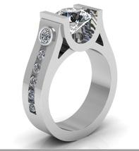 14 k White Gold Engagement Ring 2 Ct White Mois... - $1,995.00