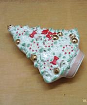 VintageMikasa Fine Porcelain Covered Christmas Tree Box // Trinket/Jewel... - $12.00