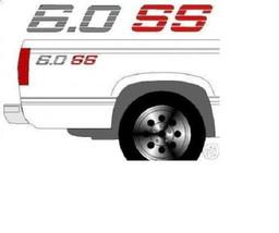 chevy truck engine decals