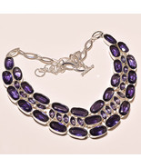 Stunning Amethyst Sterling Silver Necklace - $130.00