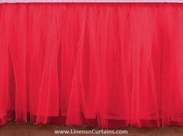 Twin XL CORAL Tulle Ruffled Bed Skirt in any drop length - $75.99+