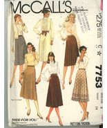 Mc'Calls 7753 Misses Skirts Two Lengths - 4 Styles Sz 8 UNCUT Vintage 1981 - $2.00