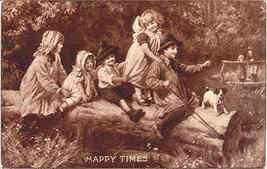 Happy Times 1906 Vintage Post Card - $6.00