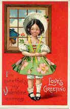 Loves Greetings Ellen Clapsaddle 1910 Vintage Post Card - $7.00