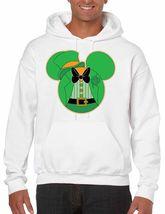 Men's Hooded  Sweatshirt Saint Patrick's Day Irish Mickey Mouse Irish Shirt - $26.00