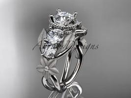 Platinum diamond floral, leaf and vine wedding ring, engagement ring ADLR69 - $2,450.00