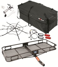 Pro Series Cargo Carrier Basket + Rola Bag + Net + Silent Hitch Pin & Led Light - $390.01