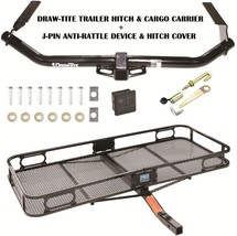 Trailer Hitch For 09-16 Toyota Venza + Cargo Basket Carrier + Silent Pin Lock - $397.83