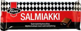 Fazer Licorice Salmiakki Milk Chocolate Bar 100 gram Made in Finland - $5.14+