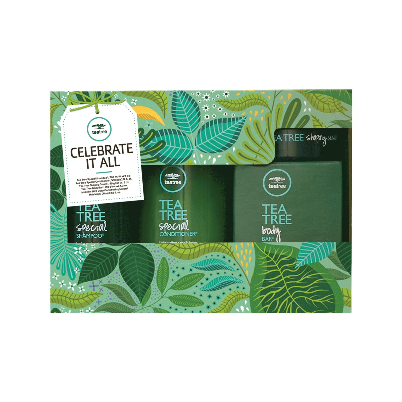 Paul Mitchell Tea Tree Shampoo, Conditioner, Body Bar, Shaping Cream 10.1