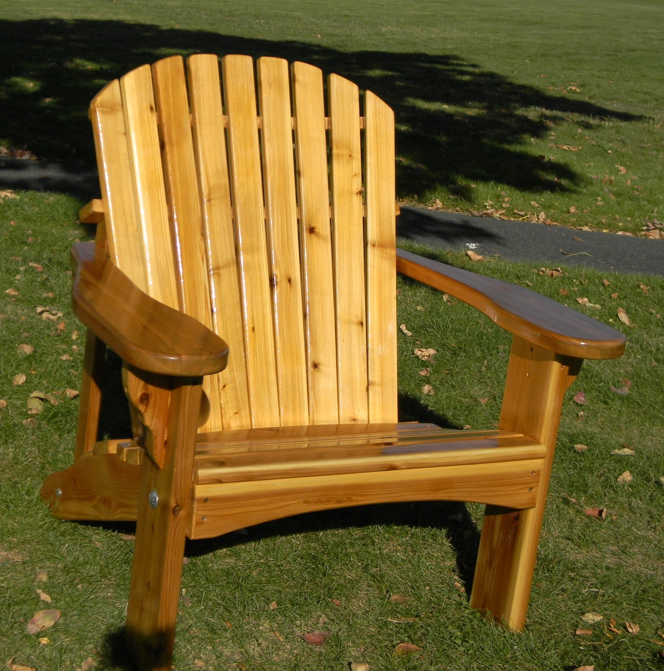 Regal Oversized Adirondack Chair Hand Crafted in Western Red Cedar