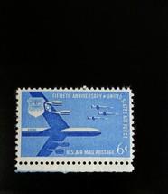 1957 6c Air Force 50th Anniversary, Air Mail Scott C49 Mint F/VF NH - $0.99