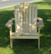 "Big and Tall Adirondack Chair Hand Crafted In Natural 1"" Thick Western R... - $199.00"