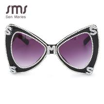Sen Maries Diamond Sunglasses Women  Luxulry Brand  Butterfly Oversized Sunglass image 5