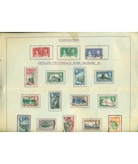 CORONATION Ceylon Pictorials King George VI  (1937) 16 postmarked stamps... - $9.89