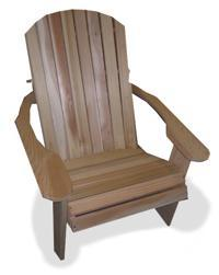 "Wide Adirondack Chair Hand Crafted In Natural 1"" Thick Western Red Cedar"