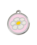 SMALL Light Pink Daisy Pet Tag Identification D... - $14.49