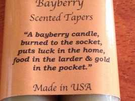 "1 Pair of traditional holiday Bayberry Hand dipped candles made in USA 9"" taper image 3"