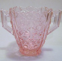 Pink Depression Double Handled Sugar Dish - $16.00