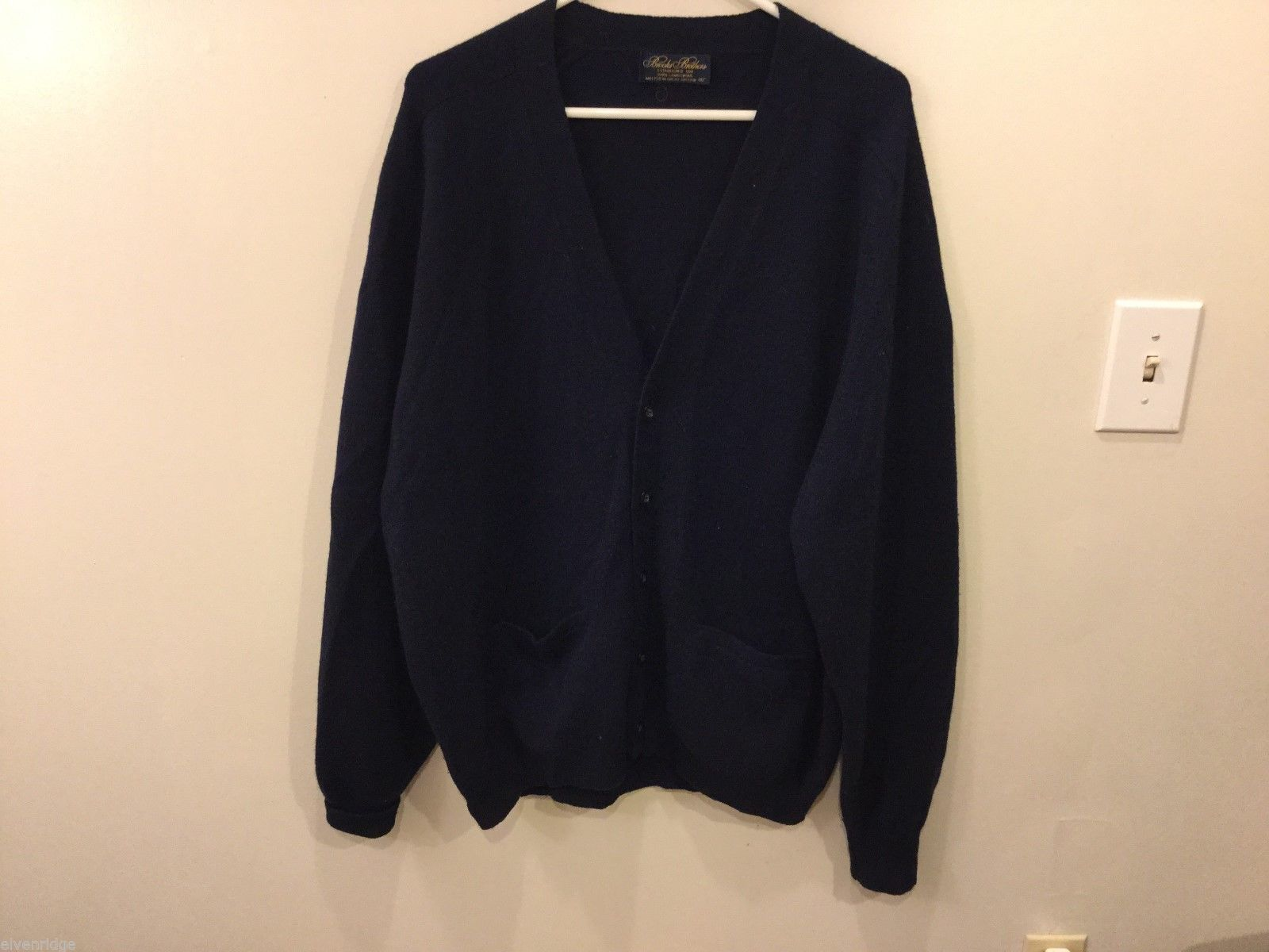 Mens Brooks Brothers Navy Blue Cardigan