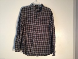 Mens APT. 9 Plaid Button Down Shirt, Size Medium