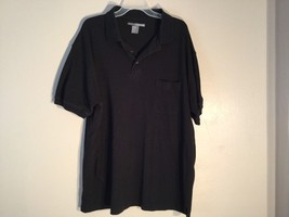Mens George Foreman Black Polo Shirt, Size 2X/Big