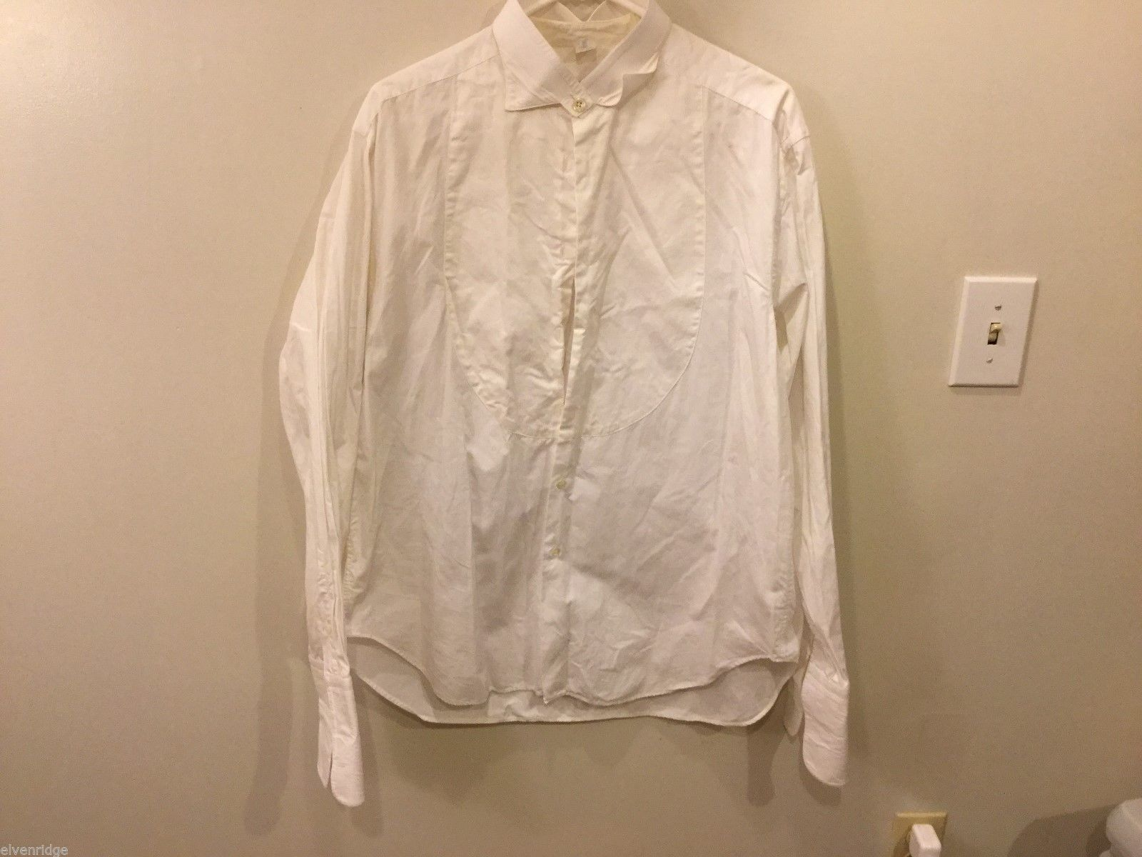 Mens Giorgio Armani White Button Up Shirt, Size 16/41