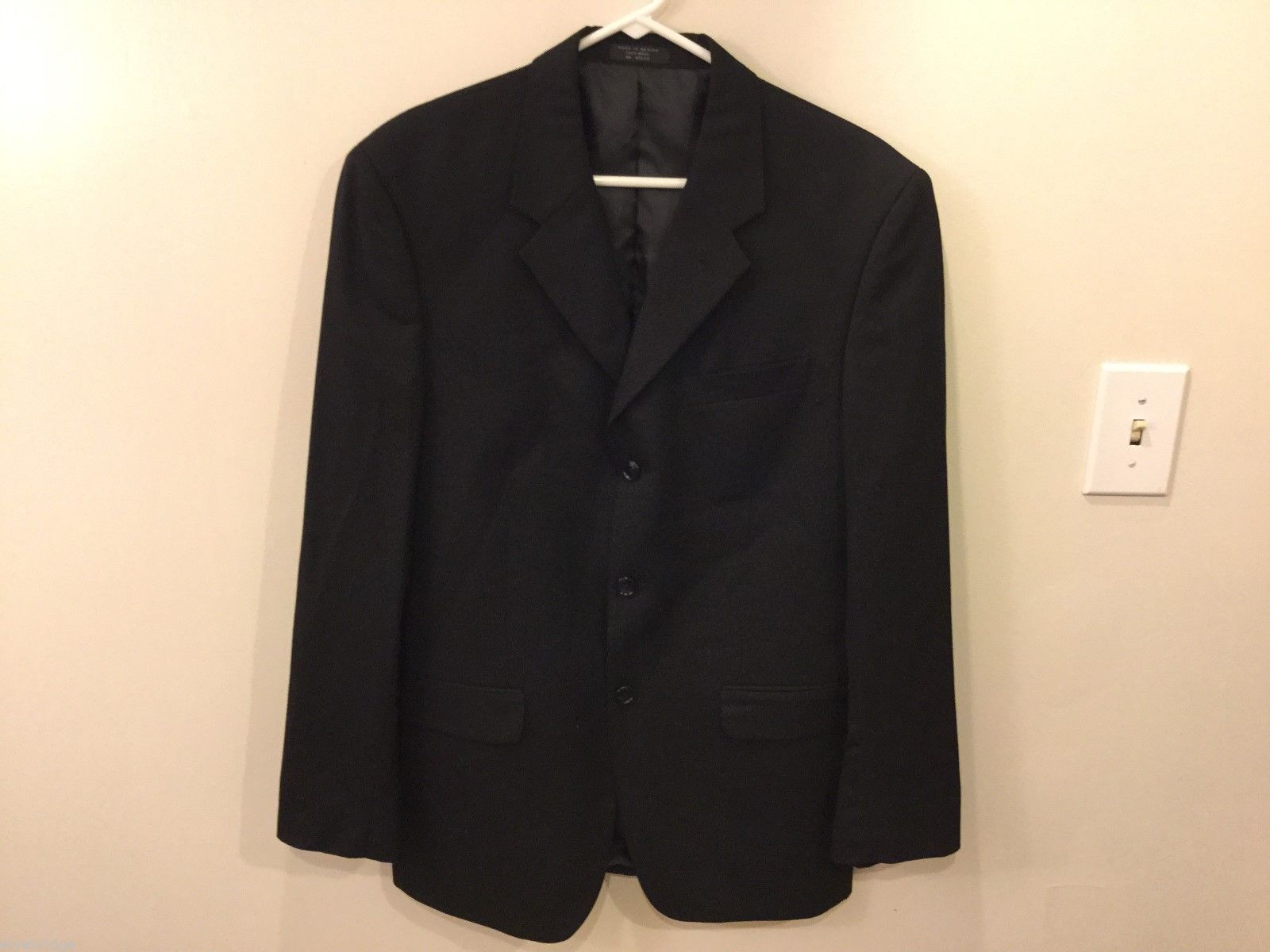 Mens Jones New York Black Suit Jacket, See Measurements