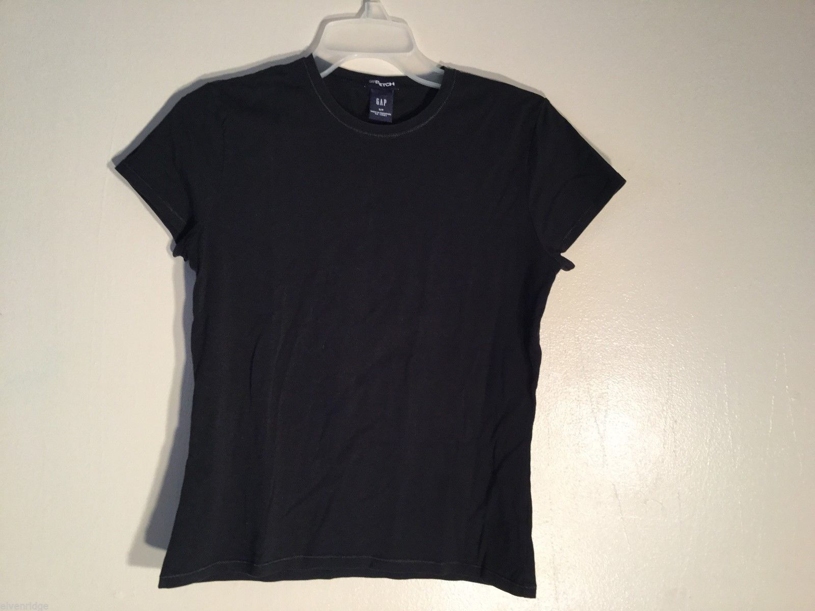 Womens GAP Stretch Black T-Shirt, Size Small
