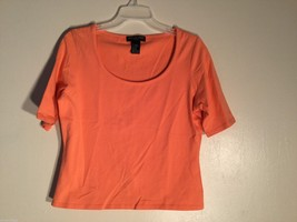 Womens August Silk Peach Colored Top, Size Large