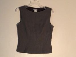 Womens J. Crew Gray Dressy Sleeveless Blouse, Size 8