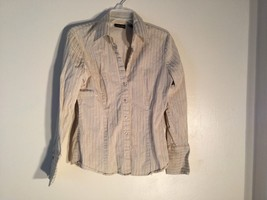 Womens New York & Co. Stretch Button Down Shirt, Size Medium