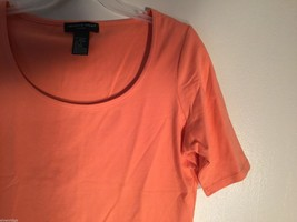 Womens August Silk Peach Colored Top, Size Large image 2