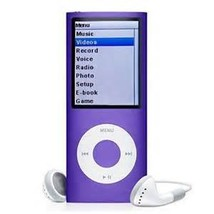 New Slim 64GB 1.8 LCD 4th Gen Mp4 FM Radio Video Player (Purple) - $48.88